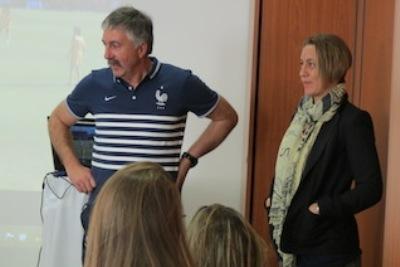 Gilles Eyquem avec Sandrine Soubeyrand (photo Gilles Eyquem)