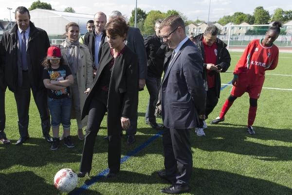 People - Week-end football pour la ministre Najat VALLAUD-BELKACEM