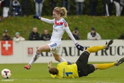 Laëtitia Tonazzi va retrouver Amandine Guérin sur sa route ce dimanche en demi-finale de la Coupe de France (Photo olweb)