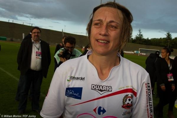 Dernier match à domicile pour Sandrine Soubeyrand, qui a vécu un samedi riche en émotions