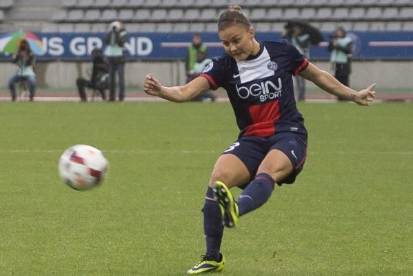 Laure Boulleau aimerait remporter une deuxième Coupe de France avec le PSG (Photo : Eric Baledent)