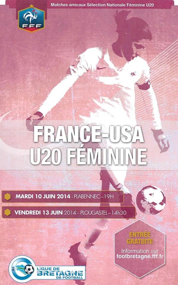 Equipe de France U20 - Premier test face aux Etats-Unis à Plabennec