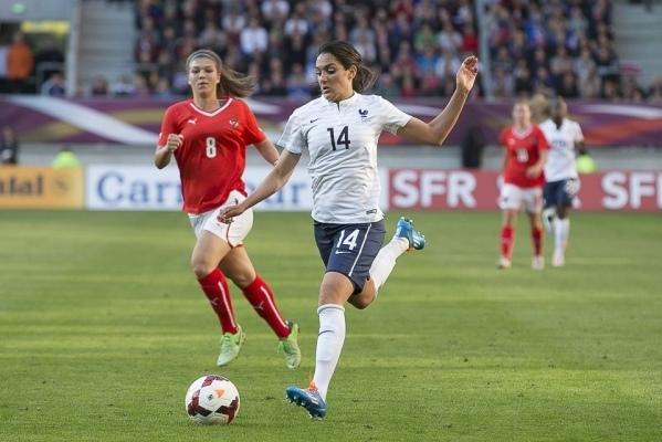 Louisa Necib avait ouvert le score sur penalty (Photos : Eric Baledent)