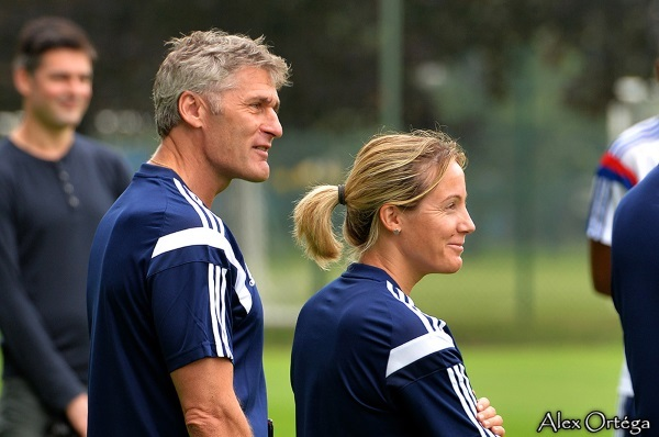 Le nouveau duo technique de l'OL (photo Alex Ortega pour Footofeminin)