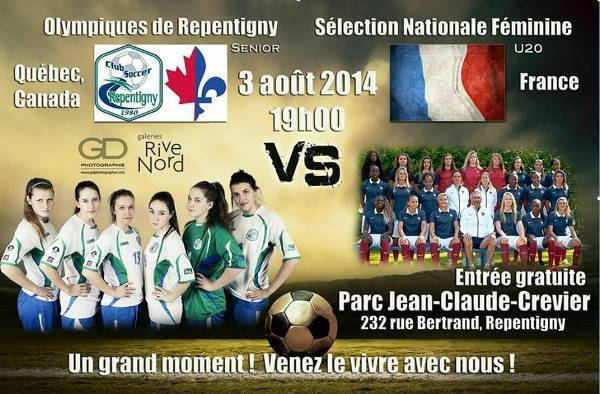 Source : Site officiel Club Sport Repentigny