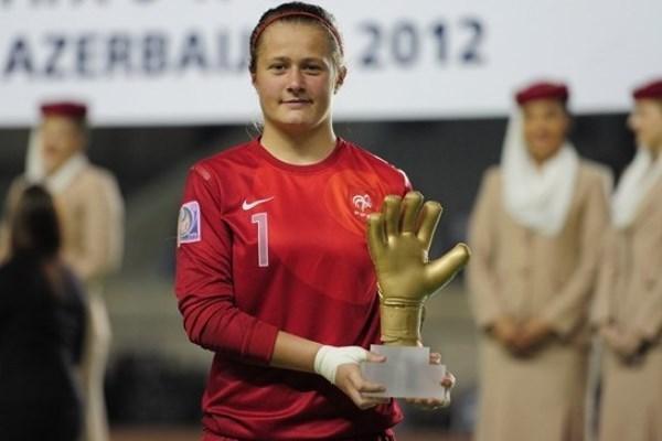 Romane Bruneau, meilleure gardienne à la Coupe du Monde U17 en 2012 (photo FIFA)