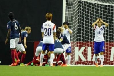 Les Sud-Coréennes n'ont cadré qu'une fois en cent vingt minutes, lors du penalty (photo FIFA)