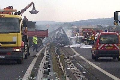 Le trafic a été très perturbé dimanche près de Montpellier (photo Vinci Autoroute)
