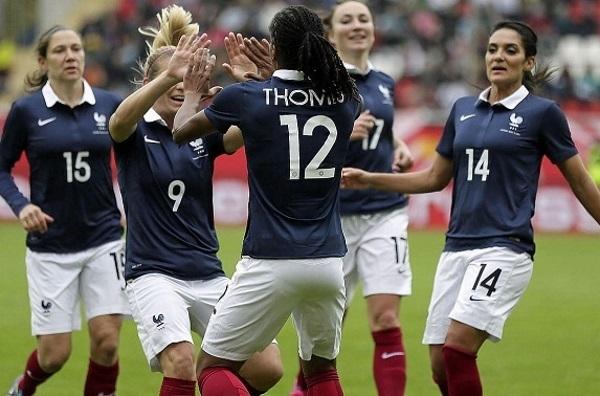 Elodie Thomis a enfoncé l'Allemagne à la vingtième minute (photo DFB)