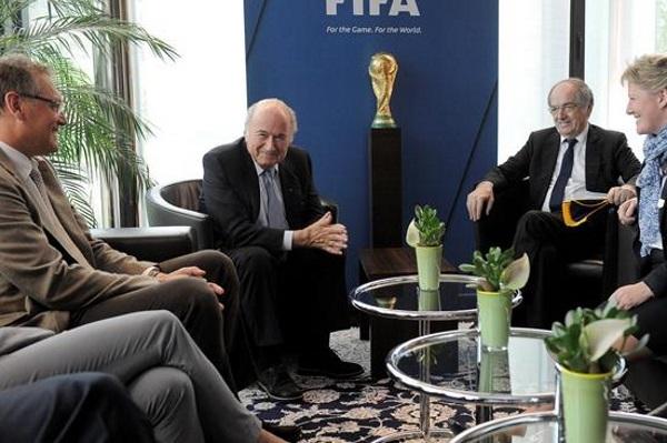 Les représentants de la FFF (photo FIFA)