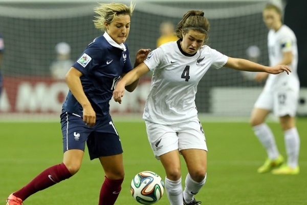 Claire Lavogez a joué la Nouvelle-Zélande l'été dernier avec les U20 (photo FIFA)