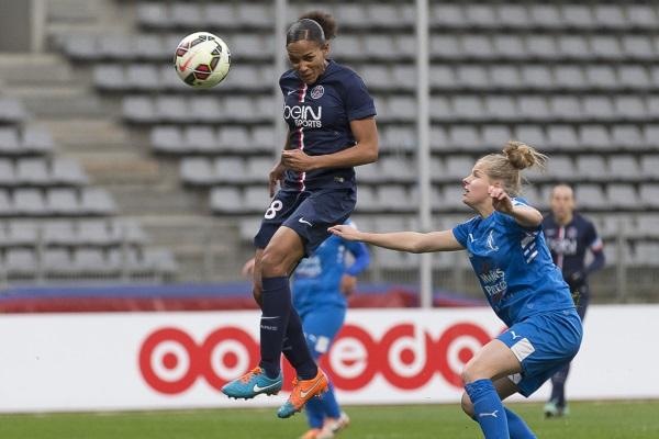 Marie-Laure Delie sur le premier but (photo E Baledent/LMP)
