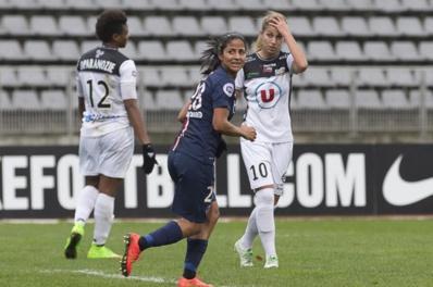 Shirley Cruz a marqué le premier but du PSG (photo E Baledent/LMP)