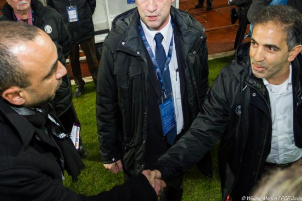 Les deux entraîneurs avant la rencontre