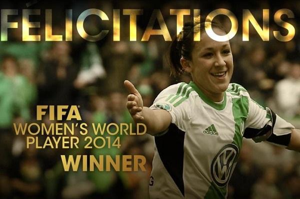 FIFA - Nadine KESSLER joueuse de l'année 2014