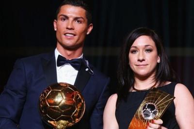 Cristiano Ronaldo et Nadine Kessler, lauréats de la soirée