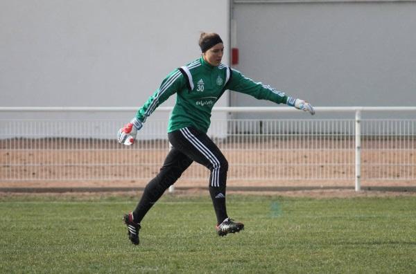 Arianna Criscione, la nouvelle gardienne de l'ASSE, sera titulaire mais n'aura pas la partie aussi facile qu'à Clermont Foot (photo Yoël Bardy)