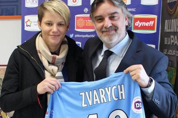 Iryna Zvarych avec Laurent Nicollin (photo MHSC)