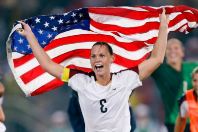Etats-Unis - Top trois des internationales américaines : Kristine LILLY, Christie RAMPONE, Mia HAMM