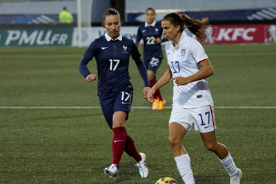 Gaëtane Thiney et Tobin Heath
