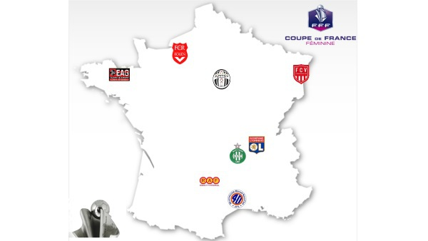 Coupe de France - MONTPELLIER - JUVISY et LYON - GUINGAMP en quarts