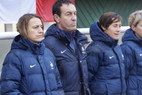 Sandrine Soubeyrand lors du dernier match face à l'Italie (photo S Duret)