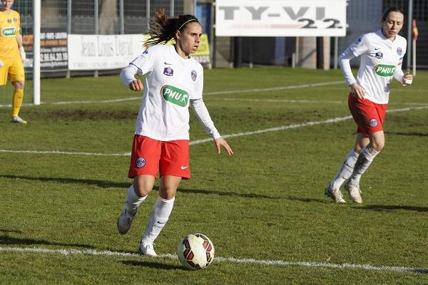 Jessica D'Houara d'Hommeaux compte sur une réaction du PSG pour l'affiche face à Lyon (photo S Duret)