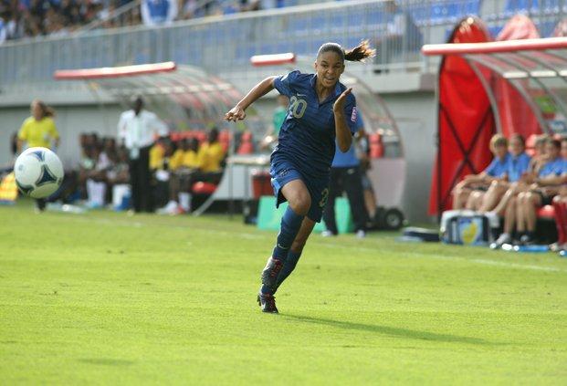 Delphine Cascarino a inscrit le troisième but (photo archive FIFA)