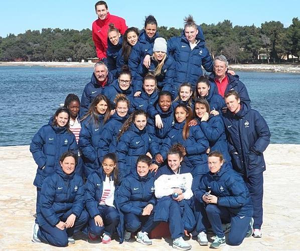 Les U19 en Croatie (photo FFF)