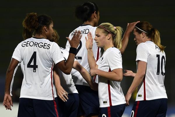 Eugénie Le Sommer a ouvert le score à la 34e minute (Photo FFF)