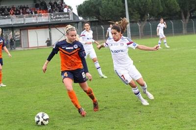 En championnat, Montpellier s'est incliné deux fois face à l'OL cette saison (0-4, 1-5) (photo MHSC)