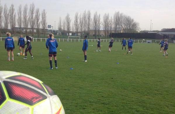 Montpellier, ce jeudi soir lors de sa première séance d'entraînement (photo MHSC)