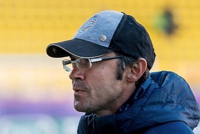Jean-Louis Saez, suspendu, était en tribune pour suivre le match