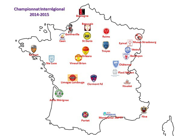 La carte des participants