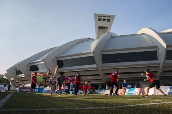 Le stade olympique vu de dehors