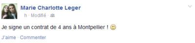D1 - MONTPELLIER fait signer Marie-Charlotte LEGER, et prolonge DAUGHETEE et TORRENT