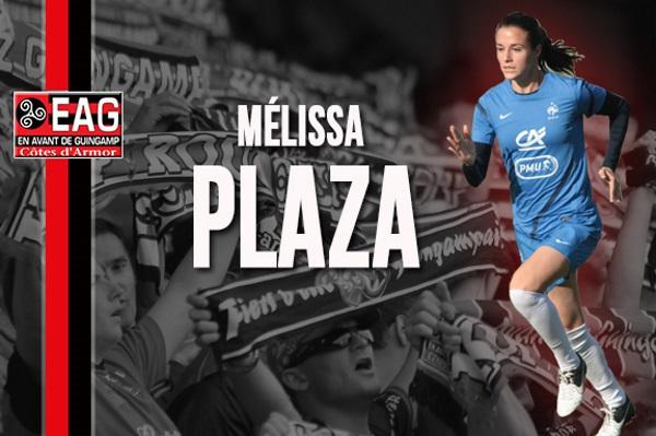 D1 - Mélissa PLAZA (OL) s'est engagée avec l'EA GUINGAMP