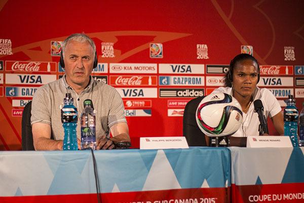 Le sélectionneur et la capitaine des Bleues (photo Laëtitia Beraud)