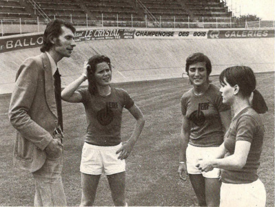 Pierre Geoffroy, à gauche, à l'origine de l'équipe féminine de Reims