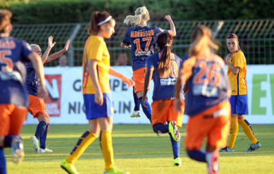 Sofia Jakobsson a égalisé face au FC Barcelone (photo MHSC)