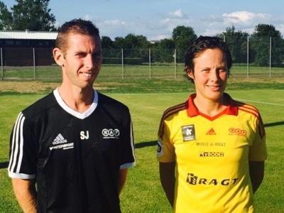 Sébastien Joseph avec la dernière recrue : Manon Alard (photo club)