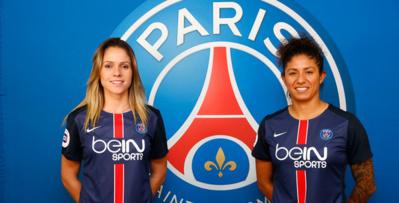 Erika et Cristiane, deux Brésiliennes à Paris (photo C Gavelle/PSG)