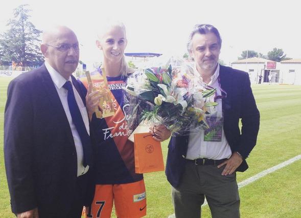Marcel Basque avec Sofia Jakobsson et Laurent Nicollin (photo MHSC)