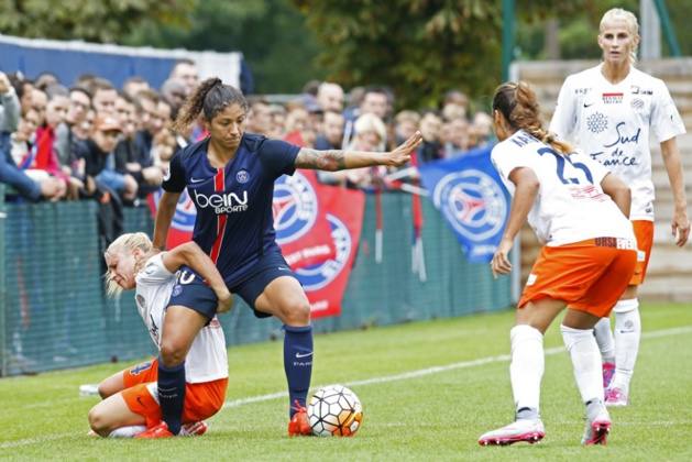 Cristiane n'a pas trouvé la faille face à Montpellier (photo PSG)