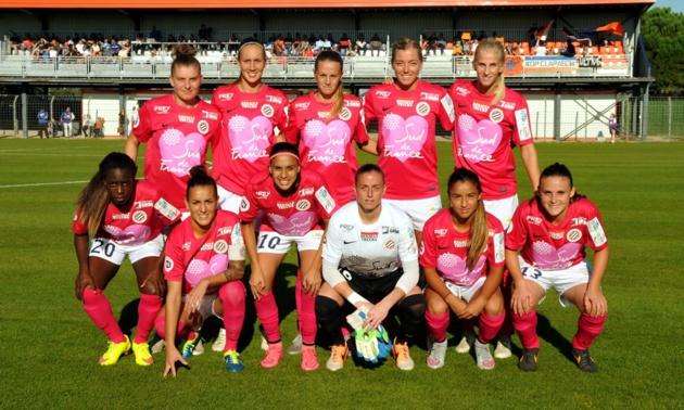 Le maillot rose du MHSC à l'occasion du Mois OctobreRose, pour la prévention du cancer du sein (photo MHSC)