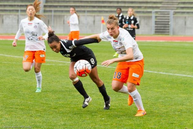 Jaurena et Léger au duel (photo W. Morice/FCF Juvisy)