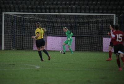 Gérard a gardé les buts des Bleues depuis la rentrée (photo A Mesa/FFF)