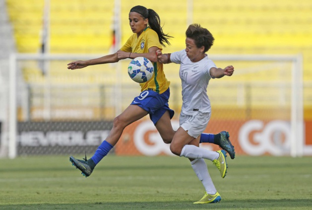 Andressa Alves passeuse décisive pour Erika (photo CBF)