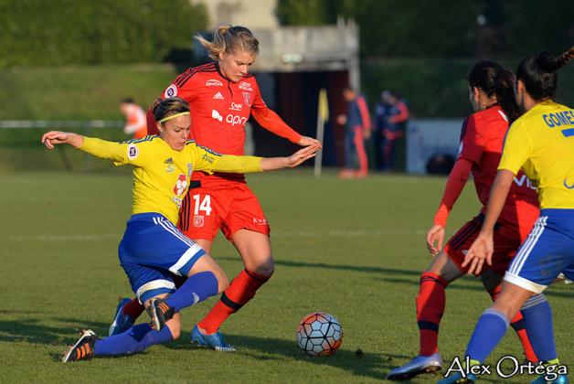 Ada Hegerberg a inscrit un triplé contre Saint-Maur