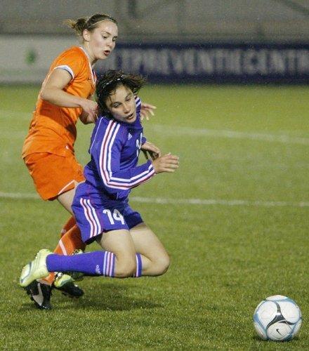Brétigny signe un doublé (Photos : Leo Soeters, vrouwenvoetbal.nl)